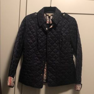 Worn once- Navy Burberry Brit Jacket